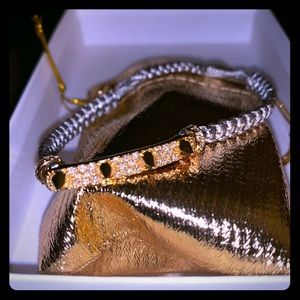 Jewelry - Beautiful Hand-Tied Gold Accent Bracelet